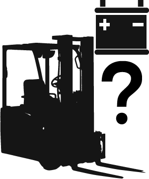 Important forklift battery information illustration